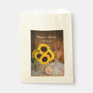 Sunflowers Garden Watering Can Wedding Thank You Favour Bag