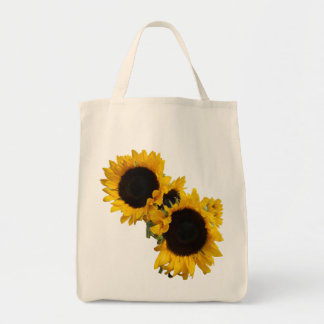 Sunflowers Grocery Tote Bag