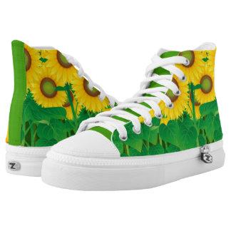 Sunflowers High Top Shoes, US Men 4 / US Women 6