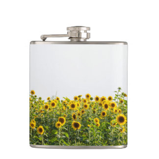 Sunflowers in a Field Hip Flask