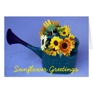 Sunflowers in a Watering Can Card