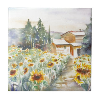 Sunflowers In Provence Tile