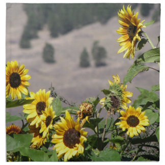 Sunflowers in the Mountains Napkin