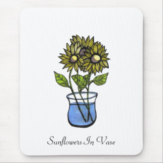 Sunflowers In Vase...Mousepad...