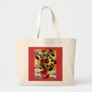 sunflowers large tote bag