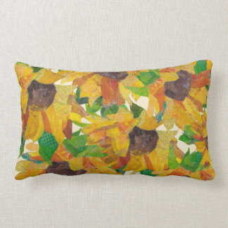 Sunflowers - mixed media - pillow