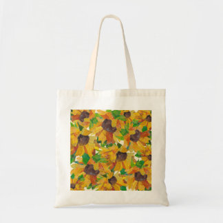 Sunflowers - mixed media - tote bag