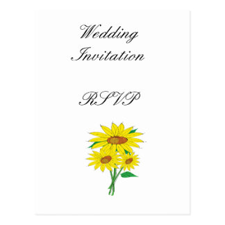 Sunflowers Modern Simple Elegant Wedding Ideas Postcard