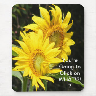 sunflowers mouse pad