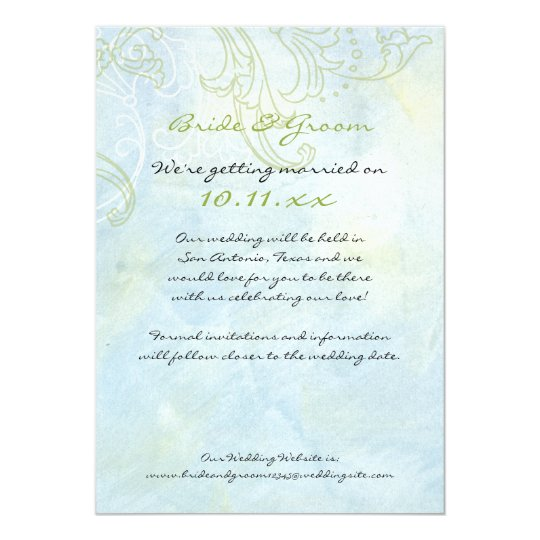 Sunflowers 'n Swirls, Wedding Invitation