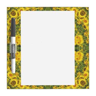 Sunflowers Nature, Flower-Mandala (Blumen-Mandala) Dry Erase Board
