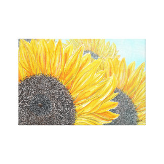 Sunflowers on a Sunny Day Canvas Print