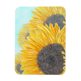 Sunflowers on a Sunny Day Magnet