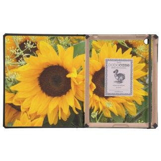 Sunflowers on iPad 2 3 4 DODOcase Navy Cover
