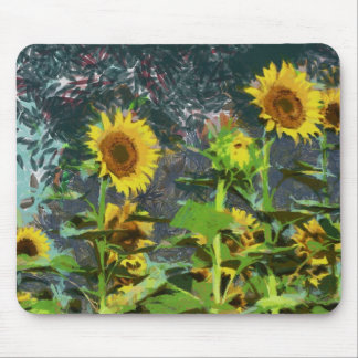 Sunflowers painting mouse pads
