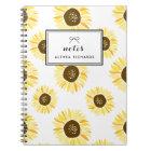 Sunflowers Pattern Personalised Notebook