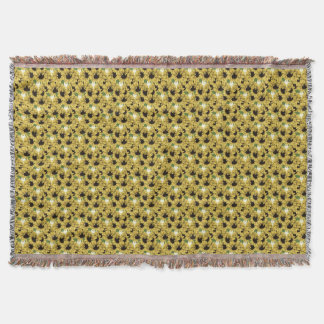 Sunflowers Patterned Fringed Throw Blanket