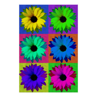 Sunflowers-Pop Art Poster