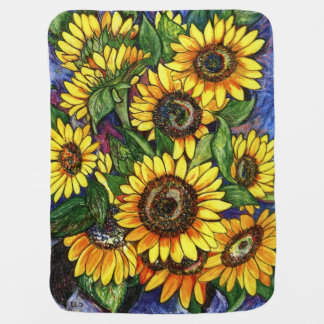 Sunflowers Pram blankets