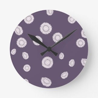 Sunflowers Round Clock