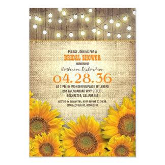 Sunflowers Rustic Bridal Shower Invitations