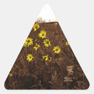 Sunflowers Triangle Stickers