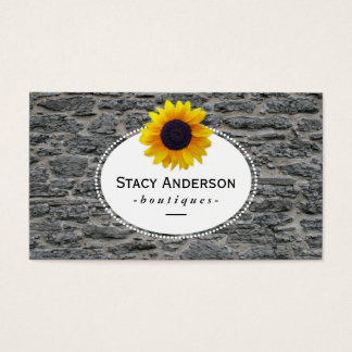 Sunflowers | Stone Business Card