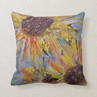 SUNFLOWERS - Summer Bold Beauty Throw Pillow