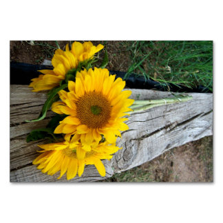 Sunflowers Table Cards
