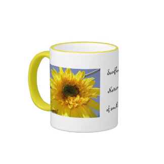 Sunflowers that smile coffee mug