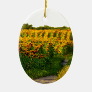 Sunflowers to Brighten your day Ceramic Ornament
