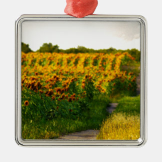 Sunflowers to Brighten your day Metal Ornament