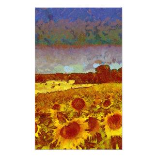 Sunflowers Under a Blue Sky Photo Print