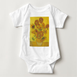 Sunflowers - Vincent Van Gogh Baby Bodysuit