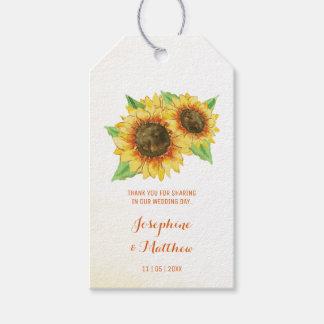 Sunflowers Wedding Favor Tags