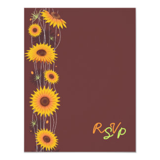 Sunflowers Wedding Invitation RSVP Card