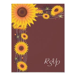 Sunflowers Wedding Invitation RSVP Card