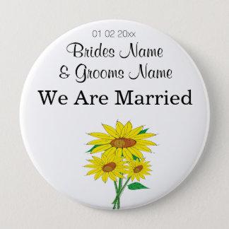 Sunflowers Wedding Souvenirs Keepsakes Giveaways 10 Cm Round Badge