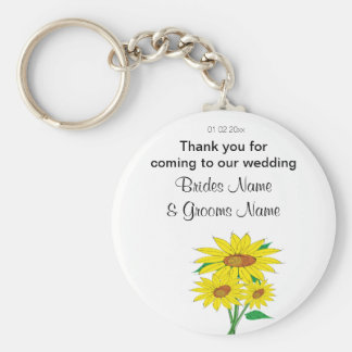 Sunflowers Wedding Souvenirs Keepsakes Giveaways Key Ring