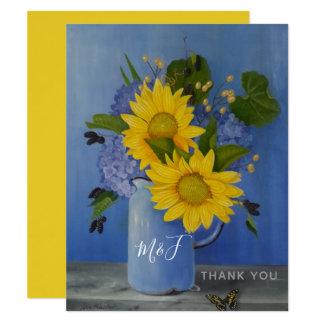 Sunflowers Wedding Thank You Card
