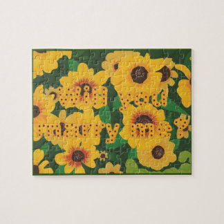 Sunflowers Will You Marry Me Proposal Puzzle