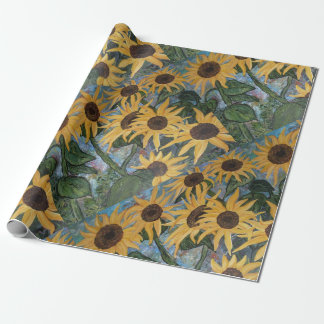 sunflowers wrapping paper