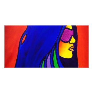 Sunglass Woman by Piliero Personalized Photo Card