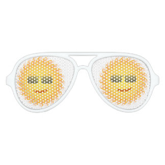 Sunglasses Adult Aviator Party Shades, White