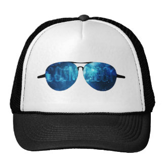 Sunglasses and outer space cap