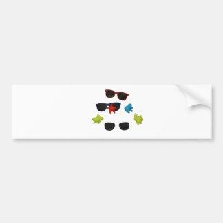 sunglasses car bumper sticker