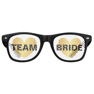 Sunglasses - Heart Fab Team Bride Golden Black