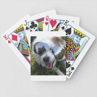 Sunglasses on dog BRIGHT FUTURE for ME Bicycle Playing Cards