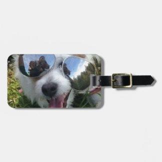 Sunglasses on dog BRIGHT FUTURE for ME Luggage Tag