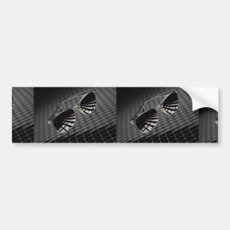 Sunglasses on grid background bumper stickers